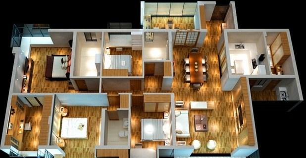 Desain Rumah Yang Klasik Dengan 4 Kamar Tidur